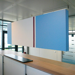 Space│partition printed | Sound absorbing suspended panels | silentrooms