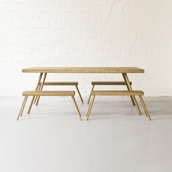 Landluft Table & Bench | Bancos | Andreas Janson