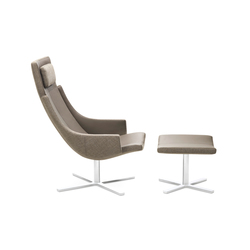 Model 1283 Link | High-Back Chair with Stool | Poltrone | Intertime