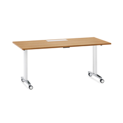 Mesas multiusos con base de cuatro patas con ruedas de alta - Mesa escritorio con ruedas ...
