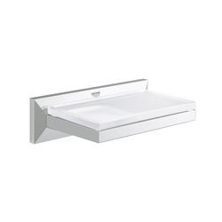 Allure Brilliant Shelf with soap dish | Shelves | GROHE