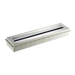 Zentrix Aufsatz Edelstahl matt, Rahmen grau | Duschabläufe / Duschroste | DALLMER