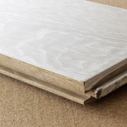 Pigmented brushed solid ash flooring | Wood | selected by Materials Council