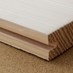 Wide-board Douglas fir flooring, lye and white soap finish | Wood | selected by Materials Council