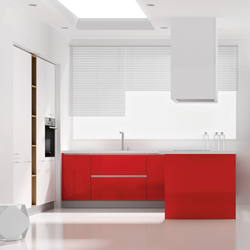 Parma rojo brillo 628 7949 | Fitted kitchens | DOCA