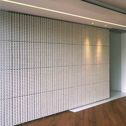 Porous model 1 screen in-situ | Partition wall systems | Kenzan