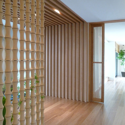 Bamboo screen in-situ | Cloisons de bureau | Kenzan
