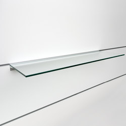 fecoorga horizontal glass suspended shelf | Complementi | Feco