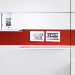fecoorga horizontal integrated felt pinpanel | Tableaux d'affichage | Feco