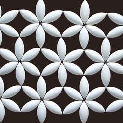 Flower circle Pattern | Ceramic tiles | Kenzan