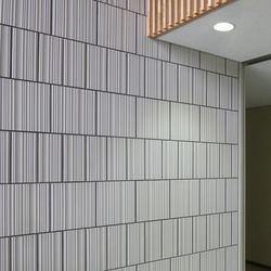 L-relief model in-situ | Wall tiles | Kenzan
