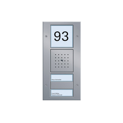 Additional functions for door stations | Timbres / Placas timbres | Gira