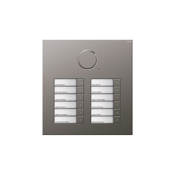 Door station stainless steel | 12-gang | Intercomunicación exterior | Gira