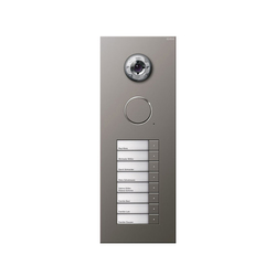 Door station stainless steel | 8-gang with video | Timbres / Placas timbres | Gira