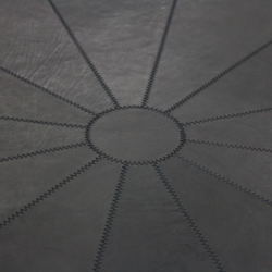 Saddleleather carpet round | Rugs / Designer rugs | KURTH Manufaktur