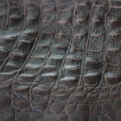 Leather croco embossed | Natural leather | KURTH Manufaktur