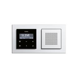 RDS flush-mounted radio | E2 | Sistemi radio | Gira