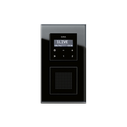 Gira Up Radio rds flush mounted radio f100 radio systems from gira architonic