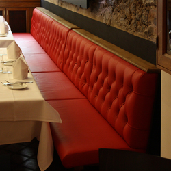 Restaurant OX Steakhouse | Chesterfield | Bancs de restaurant | KURTH Manufaktur
