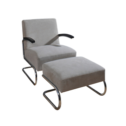 Chair with ottoman |  | KURTH Manufaktur