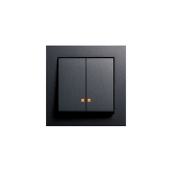 Series control switch with LED illumination element   E2   Push-button switches   Gira
