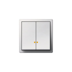 Series control switch with LED illumination element | F100 | Interruptores pulsadores | Gira