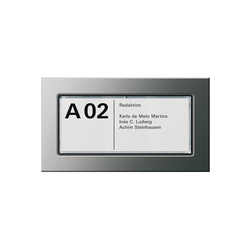 Door-| Orientation light | E22 | Room signs | Gira