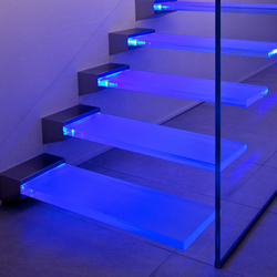 Madras® Pixel Flooring Trasparente | Glass stairs | Vitrealspecchi