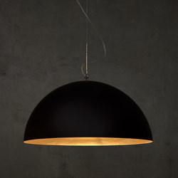 Mezza Luna noir/or | Suspensions | IN-ES.ARTDESIGN