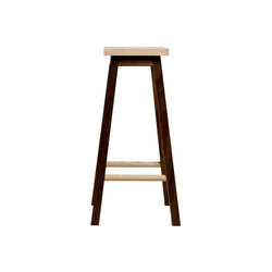Bar Stool Two, Ash & Walnut | Taburetes de bar | Another Country