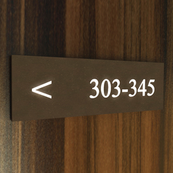 Lighthouse system signage 303 | Room signs | AMOS DESIGN