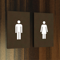 Lighthouse system hotel toilets | Plaques de porte | AMOS DESIGN