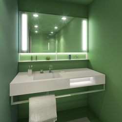 BUILT IN mirror green | Wash basins | AMOS DESIGN