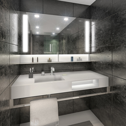BUILT IN mirror black | Wash basins | AMOS DESIGN