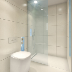 BUILT IN toilet/shower white | Shower screens | AMOS DESIGN