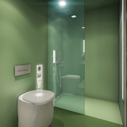 BUILT IN toilet/shower green | Shower screens | AMOS DESIGN