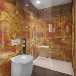 BUILT IN toilet/shower onyx | Duschkabinen | AMOS DESIGN
