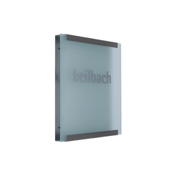 Glasnost.Display.Glass | Cartelli segnaletici per ambienti | keilbach