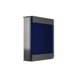 Glasnost.Glass.Blue Briefkasten | Briefkästen | keilbach