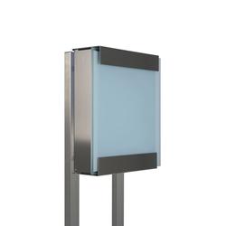 Glasnost.Glass.White Briefkasten | Briefkästen | keilbach