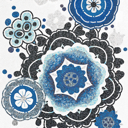 Bloem Blu | Mosaïques verre | Bisazza