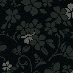 Hana Flower Dark A | Mosaici in vetro | Bisazza