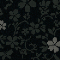 Hana Flower Dark B | Mosaïques en verre | Bisazza