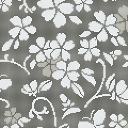 Hana Flower Grey A | Glass mosaics | Bisazza