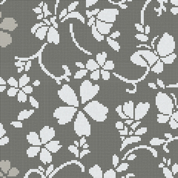 Hana Flower Grey B | Glass mosaics | Bisazza