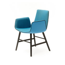 Amelie | Armchair with wooden frame round | Chairs | Freifrau Sitzmöbelmanufaktur