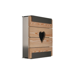 Glasnost.Wood.Heart Mailbox | Mailboxes | keilbach