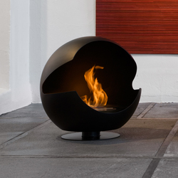 Globe metal black | Ventless ethanol fires | Vauni Fire