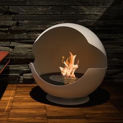 Globe stone white | Chimeneas sin humo de etanol | Vauni Fire