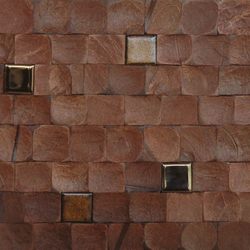 Cocomosaic tiles brown bliss with ceramic | Coconut mosaics | Cocomosaic